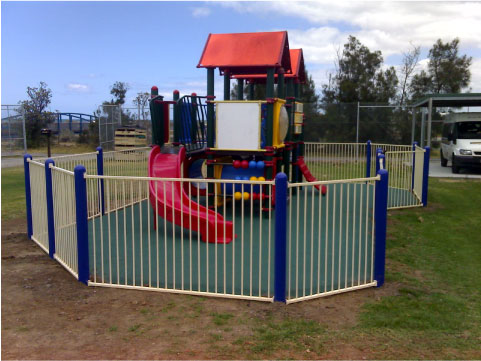 Rubber softfall for sports areas