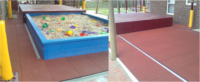 EPDM rubber soft fall for toddlers